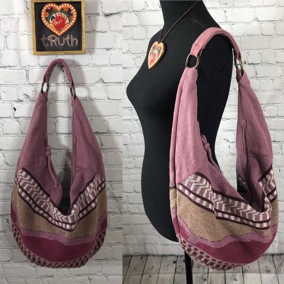 American Eagle Outfitters Handbags - American Eagle Outfitters Woven Hobo Bag Purple